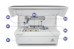 medische apparatuur gezondheid prijsanalyse volledig geautomatiseerde chemie-analysator
