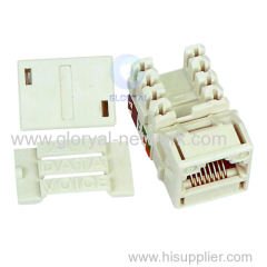 Fully stocked Cat 5e RJ45 keystone jack