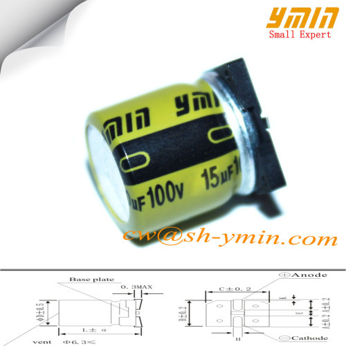 15uF 100V 6 3x10mm SMD Capacitors VKM Series SMD 105C 7000 ~ 10000