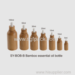 bamboo oil bottle and cap