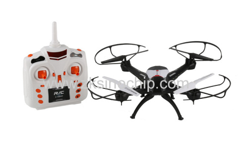 black color mini toy drone 360 flip long fly time PC ABS 2.4 g