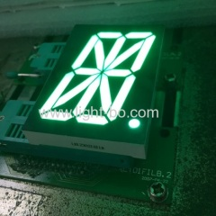 "2.3"" common anode pure green single digit 16 segment led display for clock indicator"