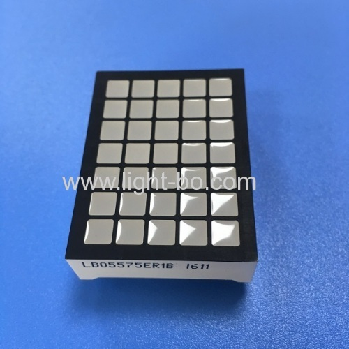 Ultra Red 5 x 7 square dot matrix led display for elevator position indicator