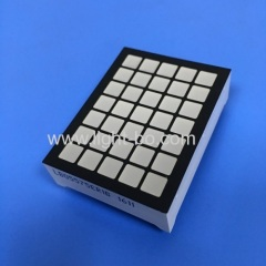 Ultra Red 5mm 5 x 7 square dot matrix led display for elevator position indicator
