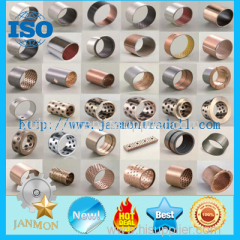SF 1 Oilless Bearing DU Bushing Metric Or Inch Bronze Based Bearing Carbon Steel Stainless Steel Bushing With PTFE