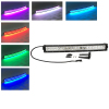 120w 22 Inch Curved Led Bar Off Road Lights Fog Lights Boat Lighting Headlight with RGB Halo ring wiring harness