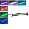 120w 22 Inch Straight Led Bar Off Road Lights Fog Lights Boat Lighting Headlight with RGB Halo ring wiring harness