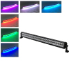 180w 32 Inch Straight Led Bar Off Road Lights Fog Lights Boat Lighting Headlight with RGB Halo ring wiring harness