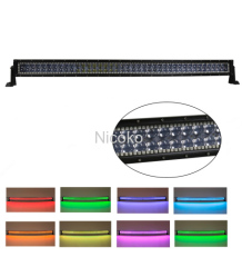 50w 288 Inch Straight Cree Led light Bar with RGB halo Flood Spot Combo Beam Driving Light 4X4 ATV 4WD SUV UTE
