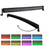 42inch 240w Curved Cree Led Bar Off Road Lights Fog Lights Boat Lighting Headlight with RGB Halo ring wiring harness