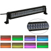 22inch 120w Straight Cree Led Bar Off Road Lights Fog Lights Boat Lighting Headlight with RGB Halo ring wiring harness