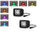12 watt led work light with RGB halo waterproof controller 3 meter wireharness