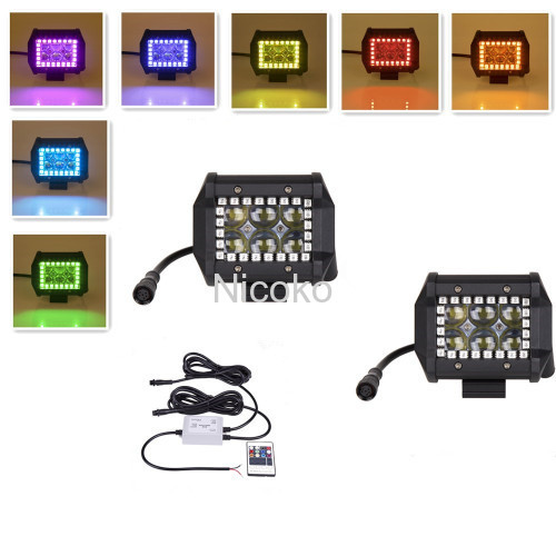 4 Inch 18 watts 4D Lens Led lights led work light with RGB halo IP 67 waterproof