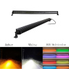 "Led light bar 52"" 300W Straight White&Amber lights LED Lights flashing lights with ColorMorph RGB halo wiring harness"