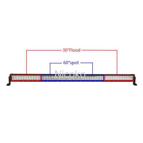 "Led light bar 42"" 240W Curved White Amber lights LED Lights flashing lights with ColorMorph RGB halo ring wiring harness"