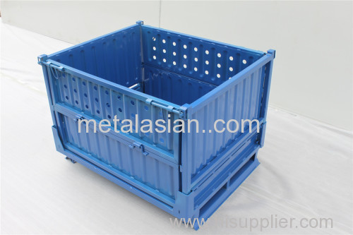 Factory Outlet Stackable Turnover Box Best Price Metal Logistics Container Foldable Storage Cage China Wholesale