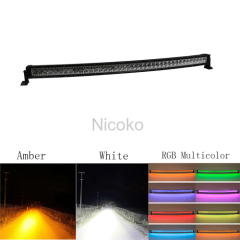"42"" 240W Curved White Amber lights LED Lights with RGB halo Off Road Lights IP67 Waterproof with Mounting Bracket"