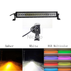 "22"" 120W Curved with ColorMorph RGB halo LED Light Bar Driving Lights Offroad Lighting with Mounting Brackets"