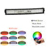 22 inches 120W RGB Halo Bluetooth control led light bar 12V/24V BLEDIM control offroad led strobe light bars