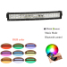 """22"""" 120W LED Light Bar Curved 12000lm Combo Beams WITH Bluetooth control RGB halo ring Driving Light IP68 Waterproof"""