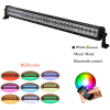 "Light 32"" 180W Straight Spot-Flood Combo LED Light Bar with RGB halo Bluetooth APP LED Off-road Lights IP67 Waterproof"