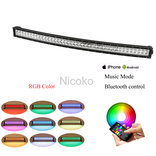 32 inches 180W Bluetooth control RGB led light bar 12V BLEDIM App control offroad led light bars