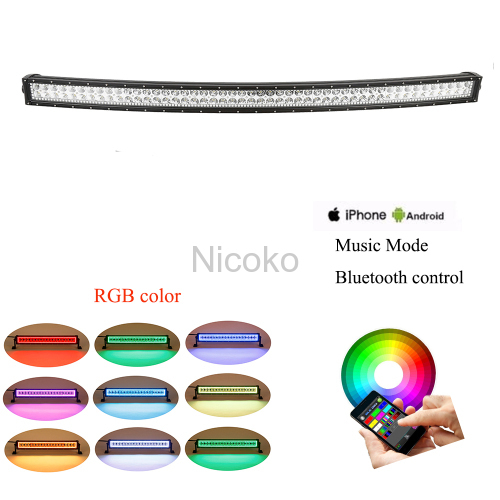 42 inches 240W RGB Bluetooth BLEDIM led light bar 12V-24V mobile control off road led work light