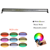 Double Row 50 inch 288W RGB Bluetooth control CREE led off road light bar Bluetooth control strobe lights