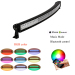"""Curved 52"""" 300W Led light bar with RGB halo ring 16 millions color changing controlled by Bluetooth APP"""