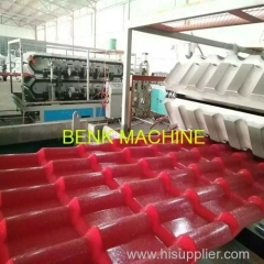 PVC roof tile profile extrusion machine