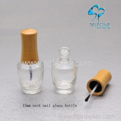 bamboo cap bottle 15ml glass bottle