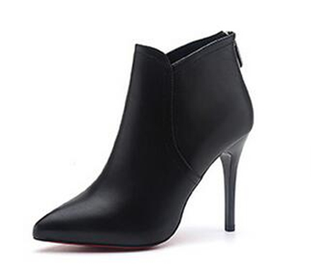 Women stiletto heel ankle heel boots black