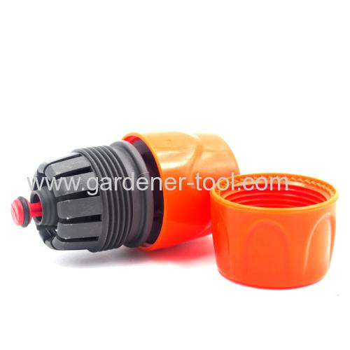 Plastic universal garden hose female waterstop connector