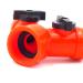 Plastic garden hose tap splitter with valve