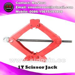 High Quality 1-2T Manual Scissor Screw Jack Small Lifting Jacks