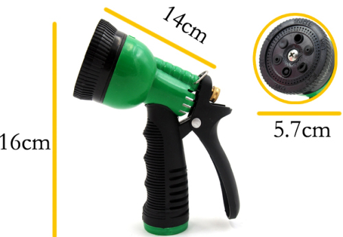 6-pattern plastic garden spray nozzle