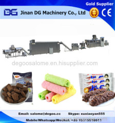 chocolate filled pillow snack food making machine production plant
