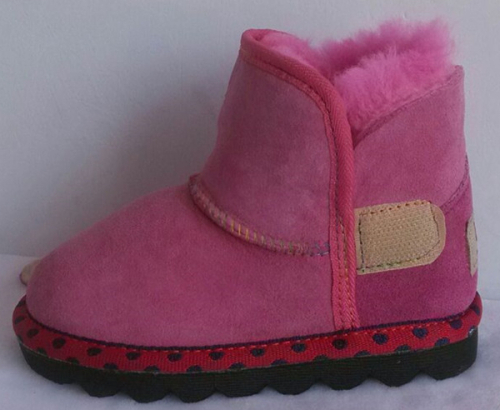Fashion faux suede kids comfortable boots