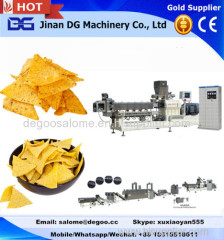 Automatic fried triangle corn chips snack food making machine production line