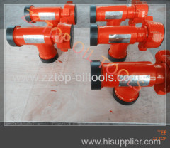 API 6C wellhead tee joint FIG1502 x 10000 psi