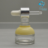 fancy frosted water transfer color glass cosmetic dropper bottle