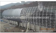 石炭倉庫金属鋼の宇宙フレームの設計グリッド構造の建物
