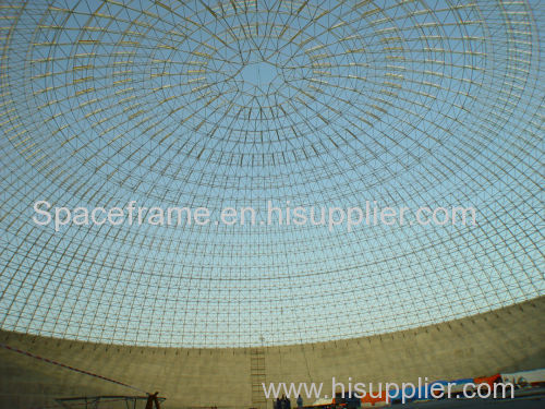 Dome supermarket steel space frame structure roof system steel building