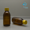 AMBER GLASS BOTTLE WITH ALUMINUM SCREW CAP