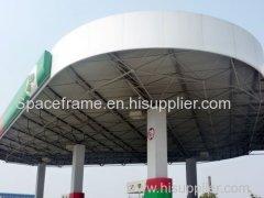 grande struttura in acciaio cornice spaziale campata per distributore di benzina