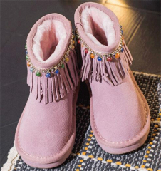 Tassels round toe children boots