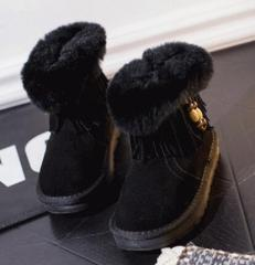 Pretty kids tassels and fur boots