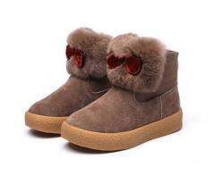 Girls and boys fashion children boots with fur