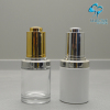 30ml Clear Empty Essential Oil Packaging Cosmetic Glass Serum Dropper Bottle