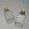 glass bottle and jar with bamboo cap pump sprayer disc cap
